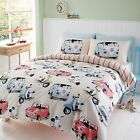 Automobile Bed Set, featuring Campervan, Scooter & Mini Retro vehicle design …