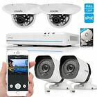 Zmodo 1080p HDMI 8CH NVR 4 1.0MP Network IR-cut Home Security Camera System 500G