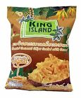 King Island-Roasted Coconut Chips Coated With Caramel Snack 40g From Thailand