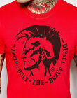 DIESEL Mens ULYSSE 00SFFC RJAIL 41S Bright Red Only The Brave Crew Neck T-Shirt