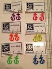 """Silvertone Tall 1"""" ANCHOR Dangle Earrings - Free Shipping- 6 Bright Colors"""
