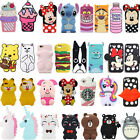 3D Cute Cartoon Soft Silicone Rubber Phone Case Cover Back For Huawei P8 P9 Lite