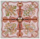NEW Authentic Hermes Silk Scarf BOUQUETS SELLIER Grey Pierre Marie