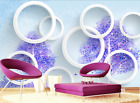 3D White Circle Painted 25 Paper Wall Print Wall Decal Wall Deco Indoor Murals