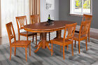 "SOMERVILLE DINING TABLE SET 42""X78"" IN SADDLE BROWN"