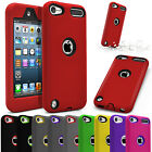 Hard Protective Soft Rubber Hybrid Armor Case For Apple Ipod Touch 5th / 6th Gen