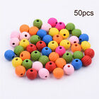 50pcs Mixed Color Cube Wooden Beads Letter DIY Craft  Parrot Bird Foot Toy Parts