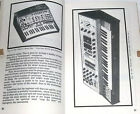 1974 Synthesizer Book RCA Mark 1 Moog Theremin Sonic 6 ARP 2600 Buchla Serge