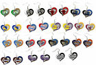 NBA Licensed PICK YOUR TEAM Swirl Heart Dangle Charm Earrings