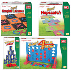 GIANT OUTDOOR INDOOR BOARD GAMES TIN CAN HOP SCOTCH 4-IN-ROW NOUGHTS CROSSES