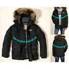 NWT HOLLISTER MENS FAUX FUR TRIM WINTER WEATHER PARK JACKET COAT BLACK SIZE M