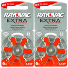 Rayovac Extra Hearing Aid 13 Size batteries * Zinc air * Mercury free x 60 cells