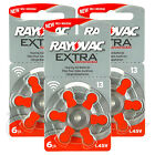 Rayovac Extra Hearing Aid 13 Size batteries  Zinc air  Mercury free x 60 cells
