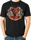 Speed Demon Living Fast Devil Hot Rod T Shirt Vintage Retro Big and Tall 7X - 8X