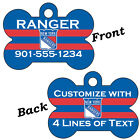 NHL Team Double Sided Pet Id Dog Tags Personalized w  4 Lines of Text