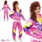 Womens 80s 90s Height of Fashion Pink Shell Suit Chav Fancy Dress Costume Fun