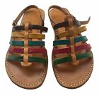 NEW Genuine Leather Strappy Sandals Hand Made Moroccan Quality Shoes Summer