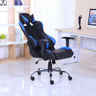 NEW RECLINING LEATHER SPORTS RACING GAMING OFFICE COMPUTER LUXURY CHAIR