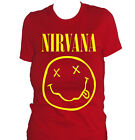 fm10 t-shirt donna NIRVANA SMILE idea regalo MUSICA