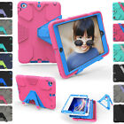 Kids Shockproof Heavy Duty Rubber Hard Kickstand Case Cover For Apple iPad Air 2