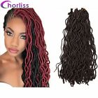 "20""Crochet Fauxlocs Dreadlock Soft Curly Freetress Braid Crochet Hair Extensions"