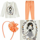 New Crazy 8 Gymboree Girl Tee Leggings Hair Accessory 3pcs Outfit Set Size 4T
