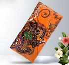 National Women Long Wallets Purse Embossing Genuine Leather Female Card Holder