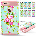 Luxury Rugged Armor Flower Pattern Protection Case Cover For iPhone 6 6s 7 Plus