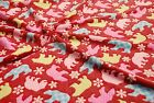 Double Sided Supersoft Cuddlesoft Fleece Fabric Material - POLAR BEAR RUBY