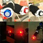 1 Pair Alloy Bicycle Bike Cycling Handlebar LED Light Lamp Handle Bar Red HY