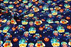 Double Sided Supersoft Cuddlesoft Fleece Fabric Material - NAVY OWLS