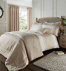 Catherine Lansfield Lille Embroidered Gold Premium Duvet Cover Bedding