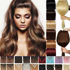 Black Full Head Real Thick Clip In as human Hair Extensions Long Curly Straight