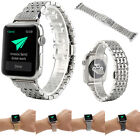 Rhinestone Strap Stainless Steel Watch Band Bracelet For Apple iWatch 38/42mm %