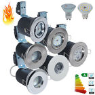 Fixed or Tilt Fire Rated IP65 LED GU10 Bulb Recessed Ceiling Downlight Spotlight