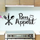 Bon Appetit French Quote Cook Art Wall Sticker Decal | Kitchen Dining Room Decor