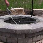 """FOLDABLE Chrome Plated Cooking Grate - 24"""",30"""",36"""",40"""" -outdoor round fire pit"""