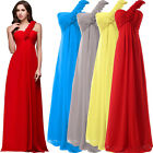 Long Chiffon Evening Formal Party Ball Gown Prom Bridesmaids Dress Ladies SALE!