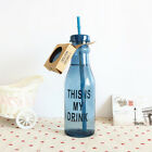 Portable Sport Travel Plastic Fruit Juice Water Bottle Cup with Straw CHUS