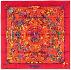 NEW Authentic Hermes Silk Scarf PIERRES D'ORIENT ET D'OCCIDENT Red