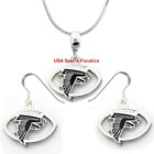 Atlanta Falcons Football Logo Pendant Necklace or Earrings or Set (5 Sizes) $7.99 USD on eBay