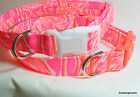 Lilly Pulitzer Tappin It Back-2017- Fabric Handcrafted Dog Collar-All sizes- USA