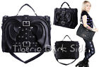Restyle Bat Wings Black Faux Leather Nu Goth Dark Handbag Shoulder Messenger Bag