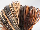 Flat 3mm Quality Brown Genuine Leather Cord Lace Available Thong Leather Cord