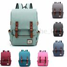 US Women Mens Canvas Backpack Manner Laptop Travel Rucksack Satchel Shoulder Bag