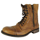 Steve Madden Mens Patronn Lace Up Leather Combat Boot Shoes