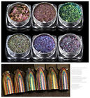 6Colors Mirror Galaxy Holo Nail Sequins Bling Laser Powder Glitter Chrome