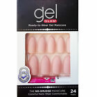 KISS GOLD FINGER GEL GLAM MANICURE GLUE ON MATTE STILETTO 24 NAILS-GFC11 PINK