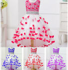 Kid Girl Baby Butterfly Flower Party Prom Princess Pageant Evening Wedding Dres