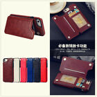 Magnetic buckle Premium hybrid Leather Case cover with card holder for iphone
